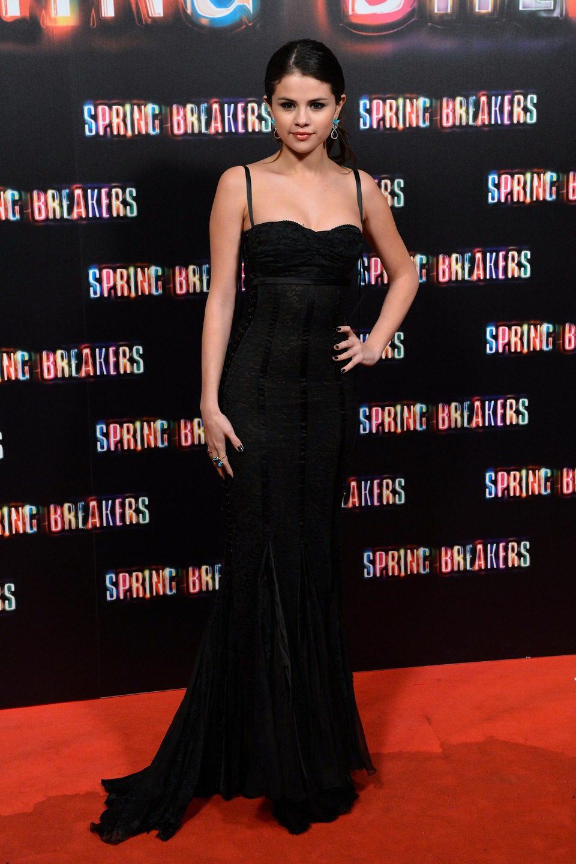 Selena Gomez en la premiere de 'Spring Breakers' en Madrid