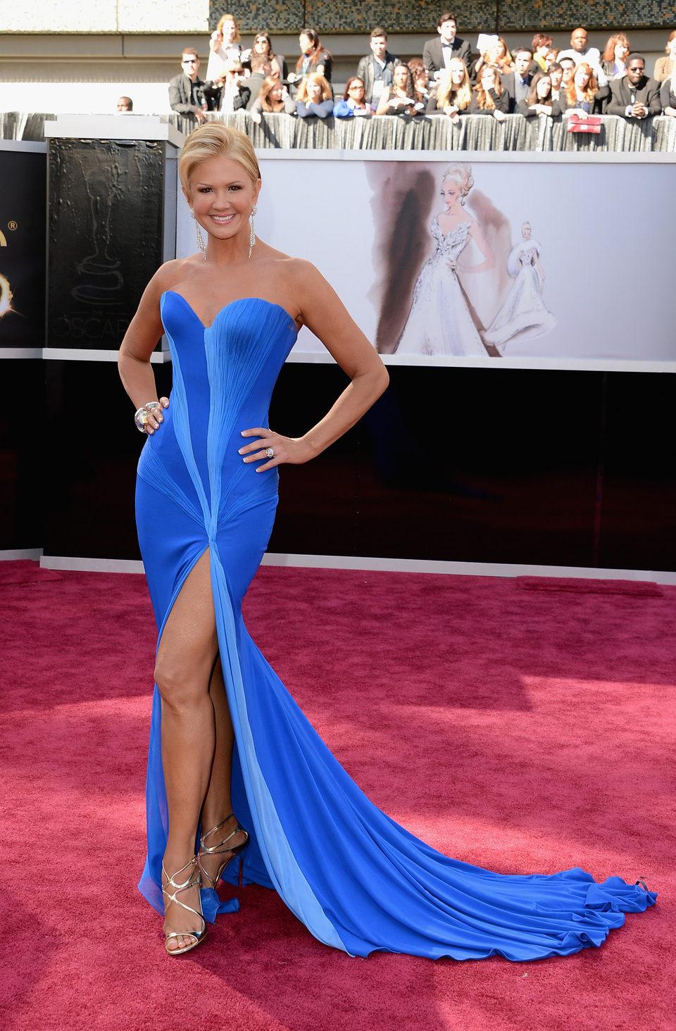 Nancy O'Dell en los Oscars 2013