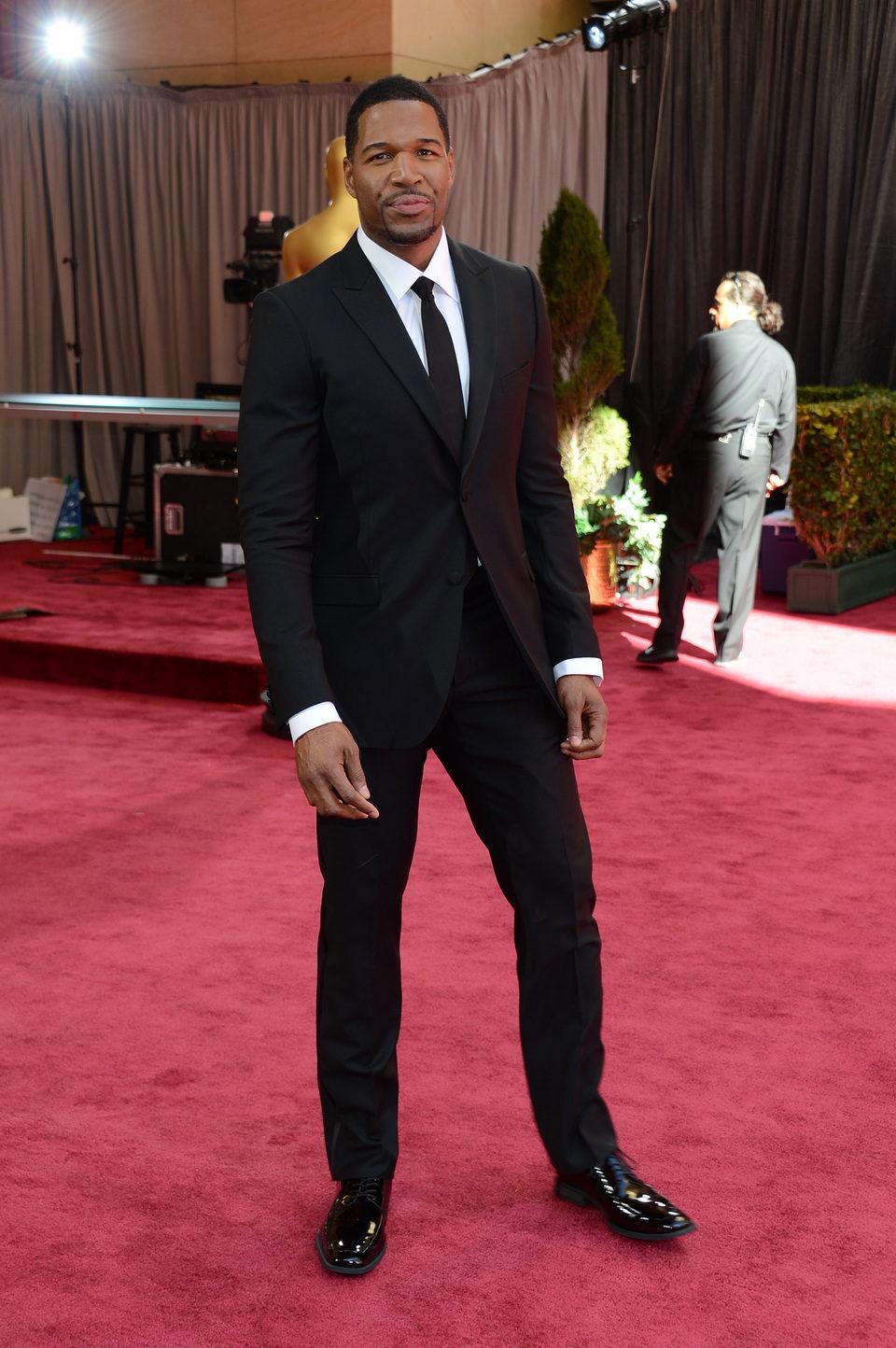 Michael Straham en la alfombra roja de los Oscar 2013