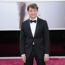 Benh Zeitlin en la alfombra roja de los Oscar 2013