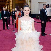 Fatima Ptacek en la alfombra roja de los Oscar 2013