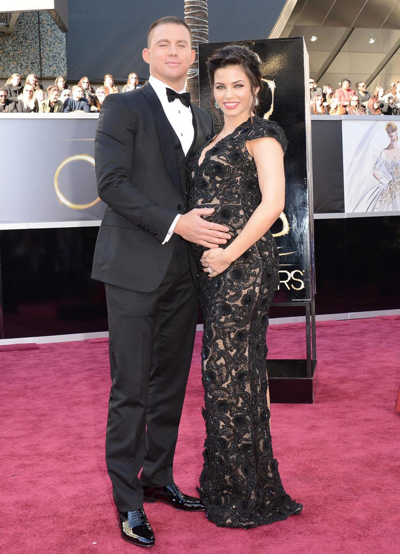 Channing Tatum y su mujer Jenna Dewan en los Oscar 2013