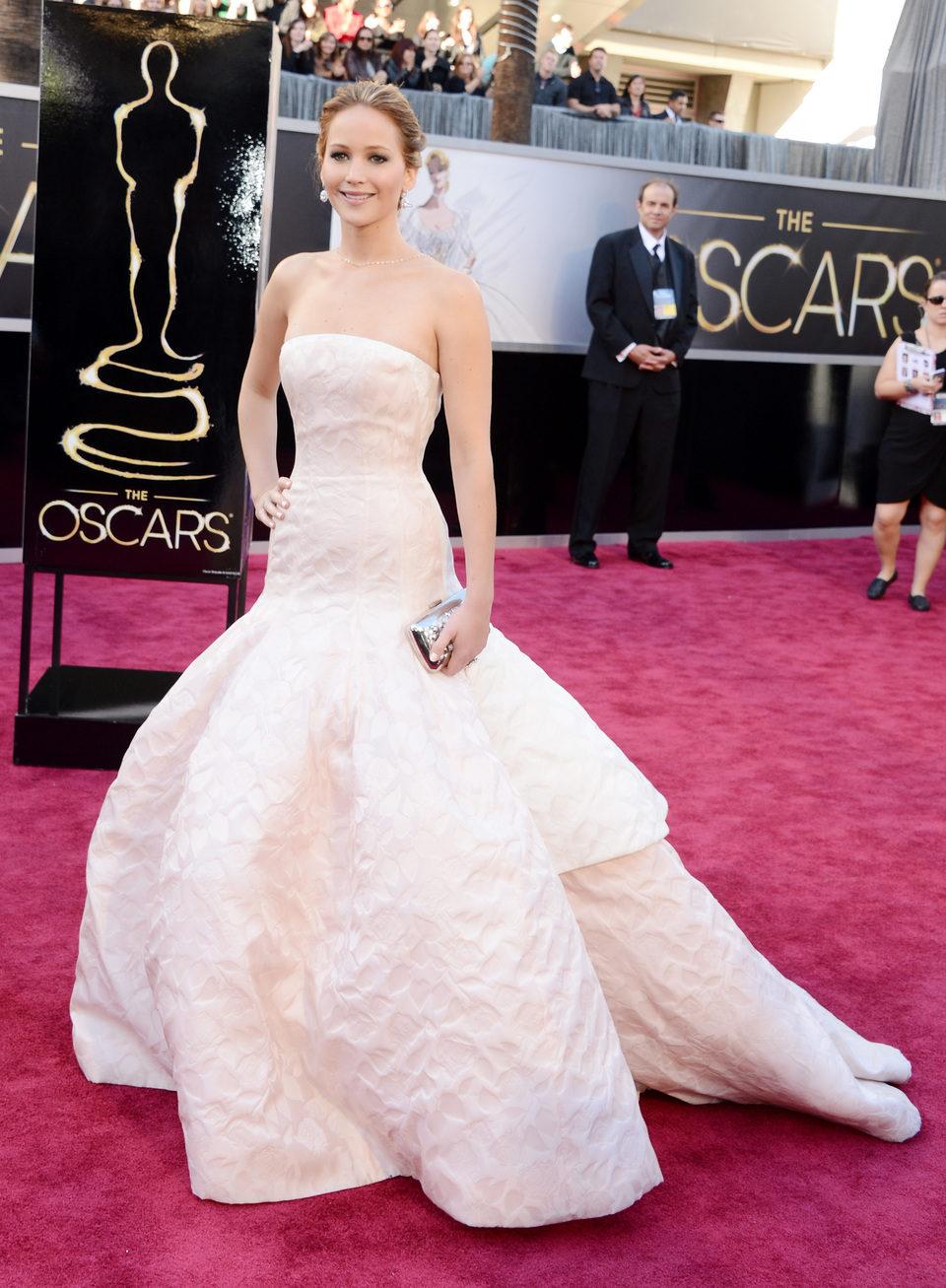 Jennifer Lawrence en los Oscar 2013