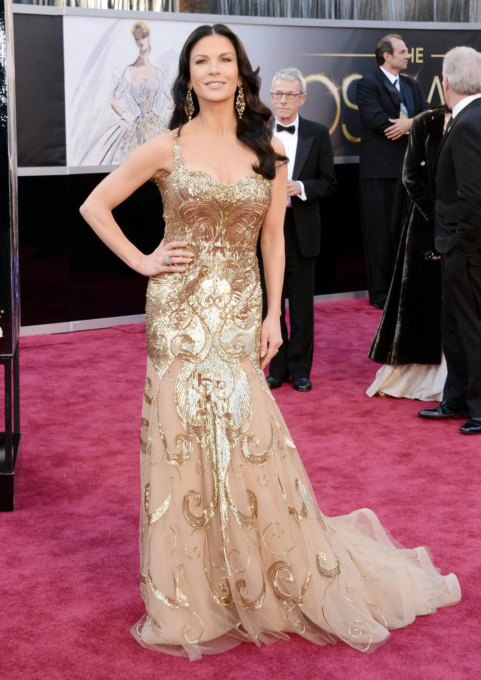 Catherine Zeta-Jones en los Oscar 2013
