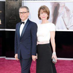 Christoph Waltz y su mujer Judith Holste en los Oscar 2013
