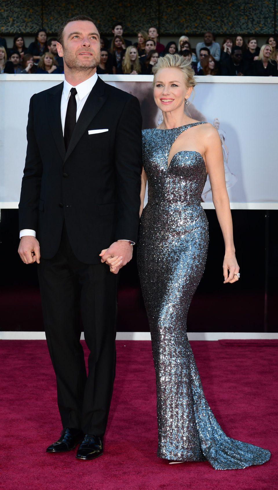 Naomi Watts y Liev Schreiber en los Oscar 2013