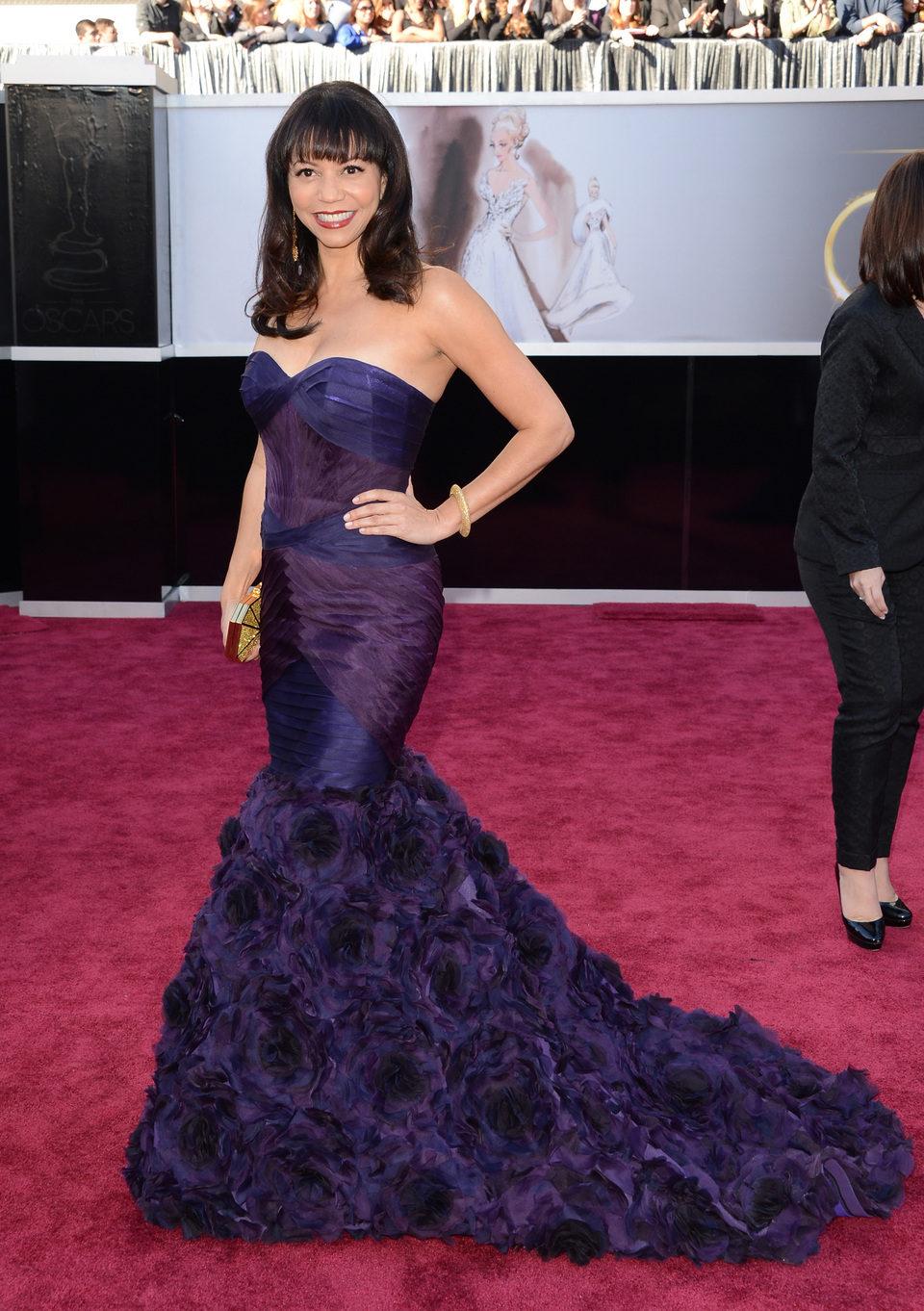 Gloria Reuben en los Oscars 2013