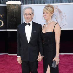 Steven Spielberg en la alfombra roja de los Oscar 2013