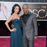 Jamie Foxx y su hija Corinne Bishop en los Oscar 2013