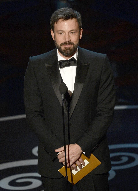 Ben Affleck presentando el Oscar 2013 a Mejor documental