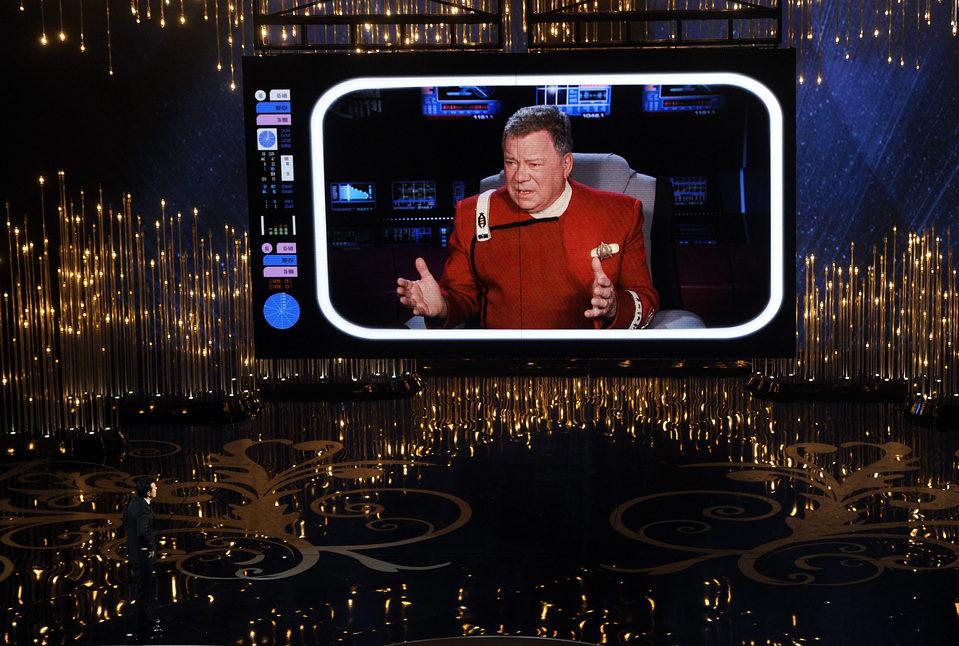 William Shatner en los Oscar 2013