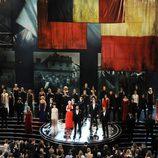 El equipo de 'Los Miserables' en los Oscar 2013