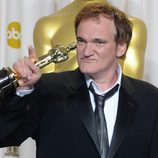 Quentin Tarantino con su Oscar 2013