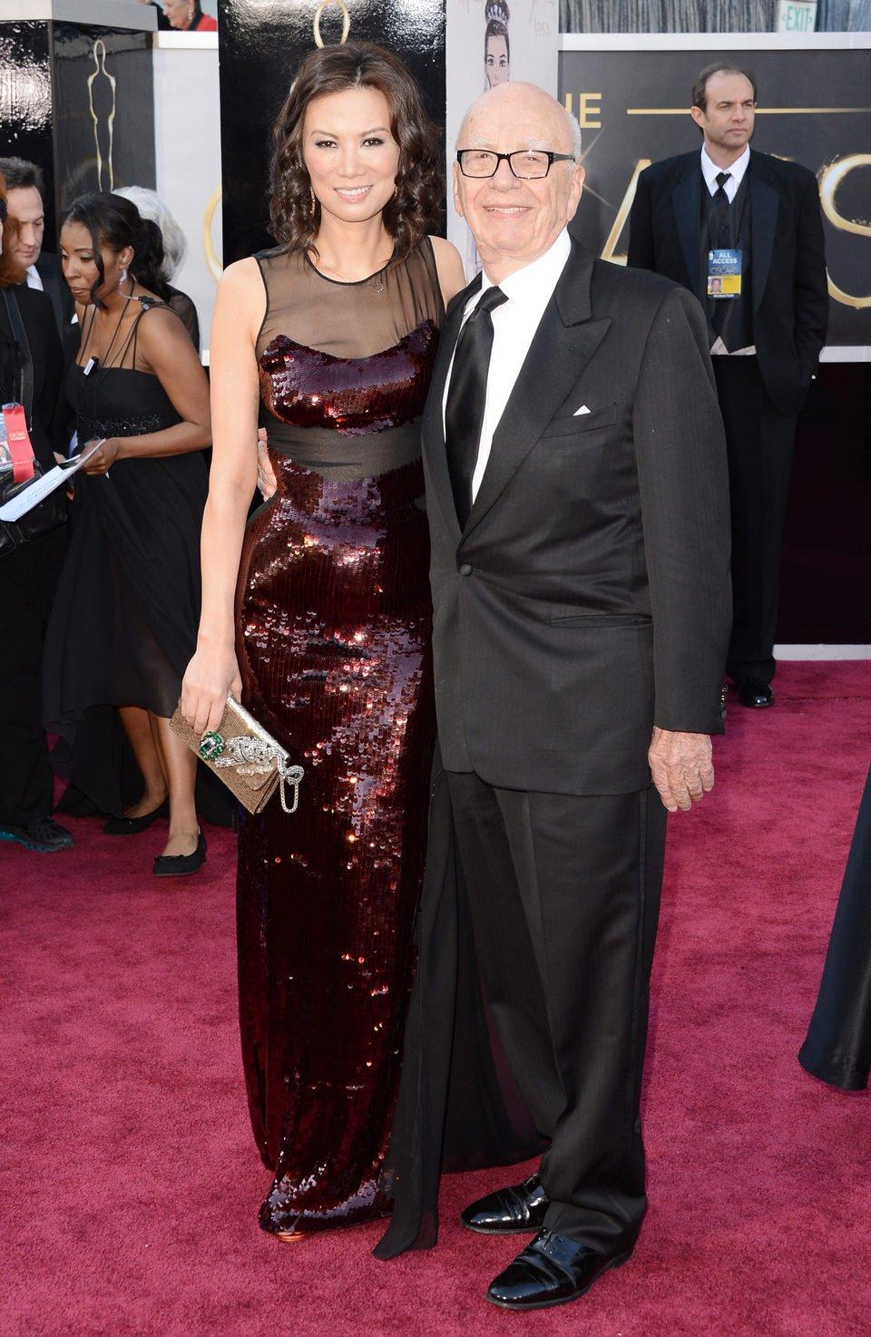 Rupert Murdoch y Wendi Murdoch en los Oscar 2013
