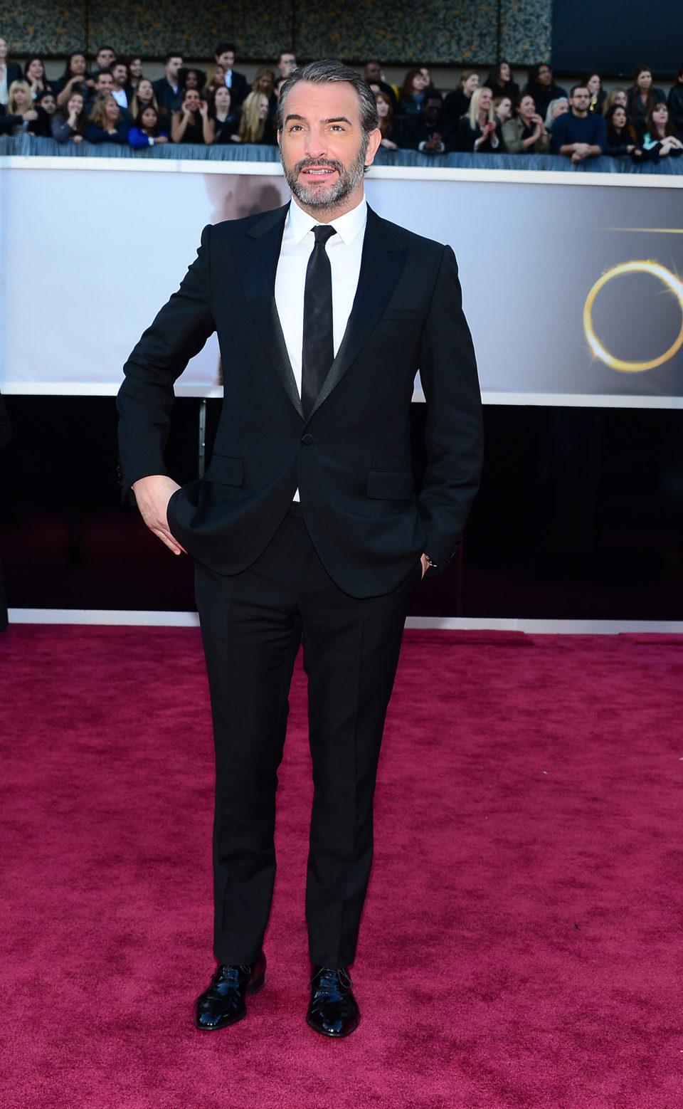 Jean Dujardin en la alfombra roja de los Oscar 2013