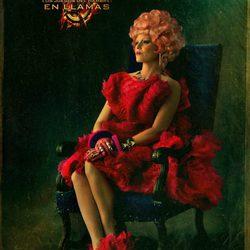Retrato de Effie Trinket para 'Los Juegos del Hambre: En llamas'