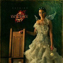 Retrato de Katniss Everdeen en 'Los Juegos del Hambre: En llamas'