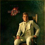 Retrato de Peeta Mellark en 'Los Juegos del Hambre: En llamas'