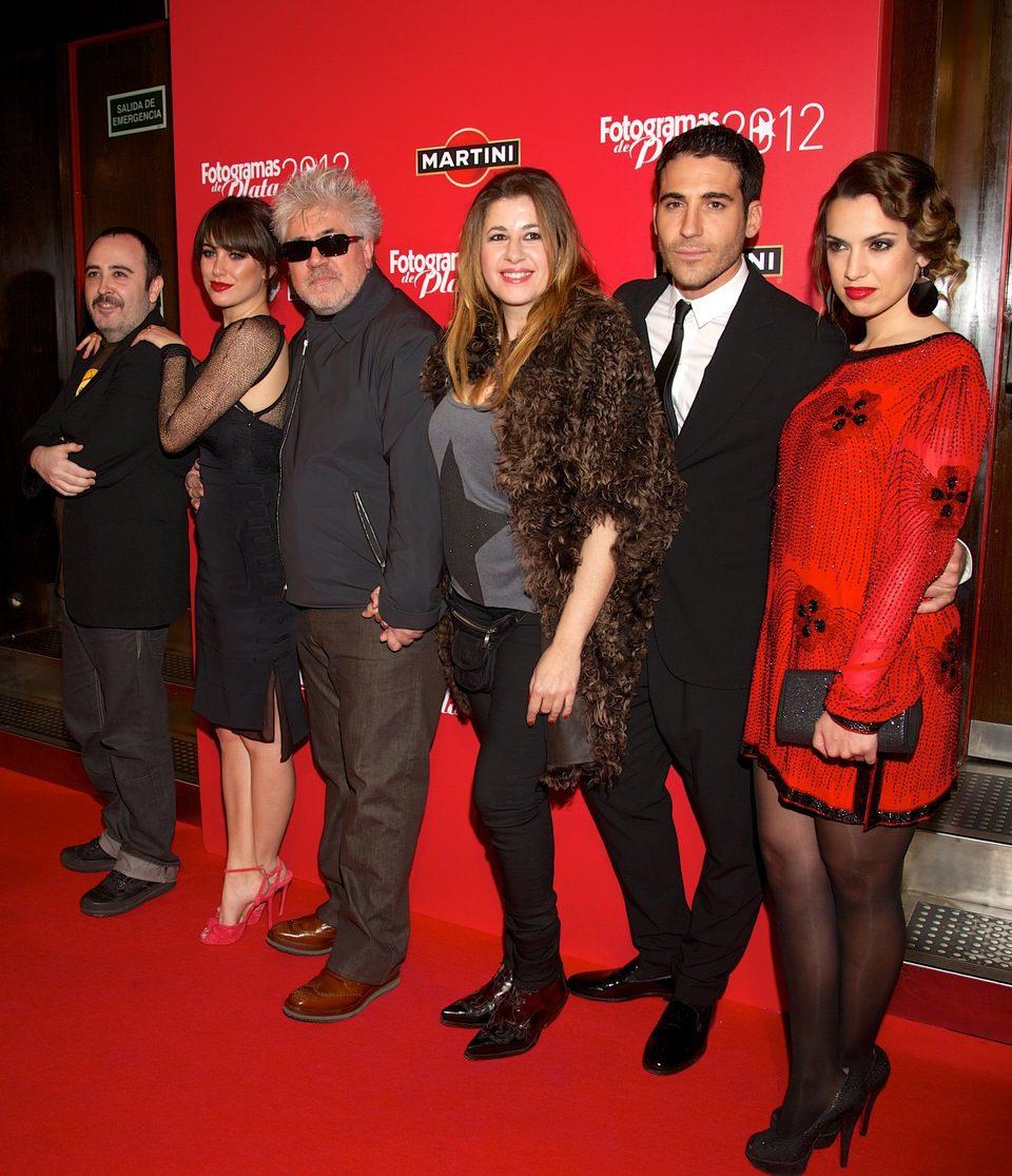 Carlos Areces, Blanca Suárez, Pedro Almodóvar, Pepa Charro, Miguel Ángel Silvestre y Laya Matí en los Fotogramas de Plata 2012