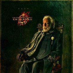 Retrato del Presidente Snow en 'Los Juegos del Hambre: En llamas'