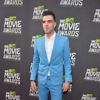 Zachary Quinto en la alfombra roja de la entrega de los MTV Movie Awards 2013