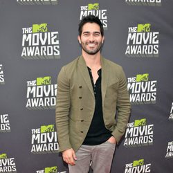 Tyler Hoechlin en la alfombra roja de la entrega de los MTV Movie Awards 2013