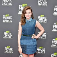 Chloe Moretz en la alfombra roja de la entrega de los MTV Movie Awards 2013