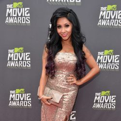 Snooki en la alfombra roja de la entrega de los MTV Movie Awards 2013