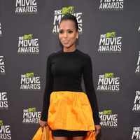 Kerry Washington en la alfombra roja en la entrega de los MTV Movie Awards 2013