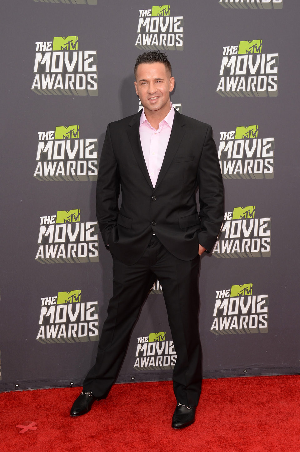 Mike 'The Situation' en la alfombra roja de la entrega de los MTV Movie Awards 2013