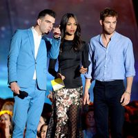 Zachary Quinto, Zoe Saldana y Chris Pine en los MTV Movie Awards 2013