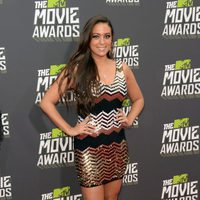 Sammi Giancola en la alfombra roja de la entrega de los MTV Movie Awards 2013