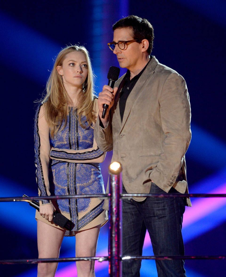 Amanda Seyfried y Steve Carell en los MTV Movie Awards 2013