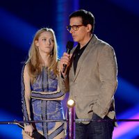 Amanda Seyfried y Steve Carell en los MTV Movie Awards 2013