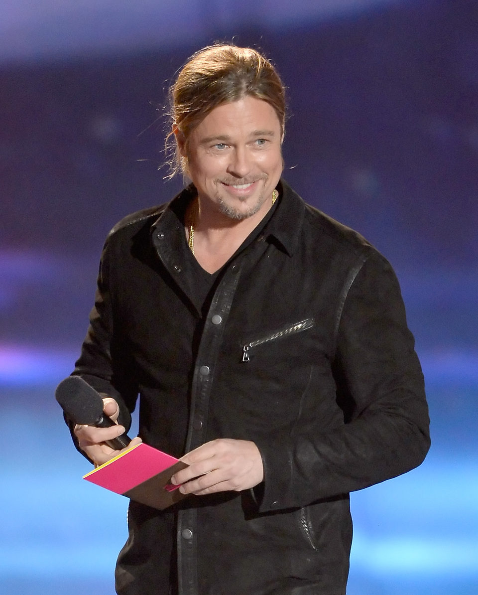 Brad Pitt en los MTV Movie Awards 2013