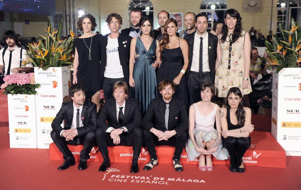 Segunda foto de grupo en el 16 Festival de Cine de Málaga 2013