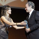 José Coronado recibiendo el Premio Málaga SUR