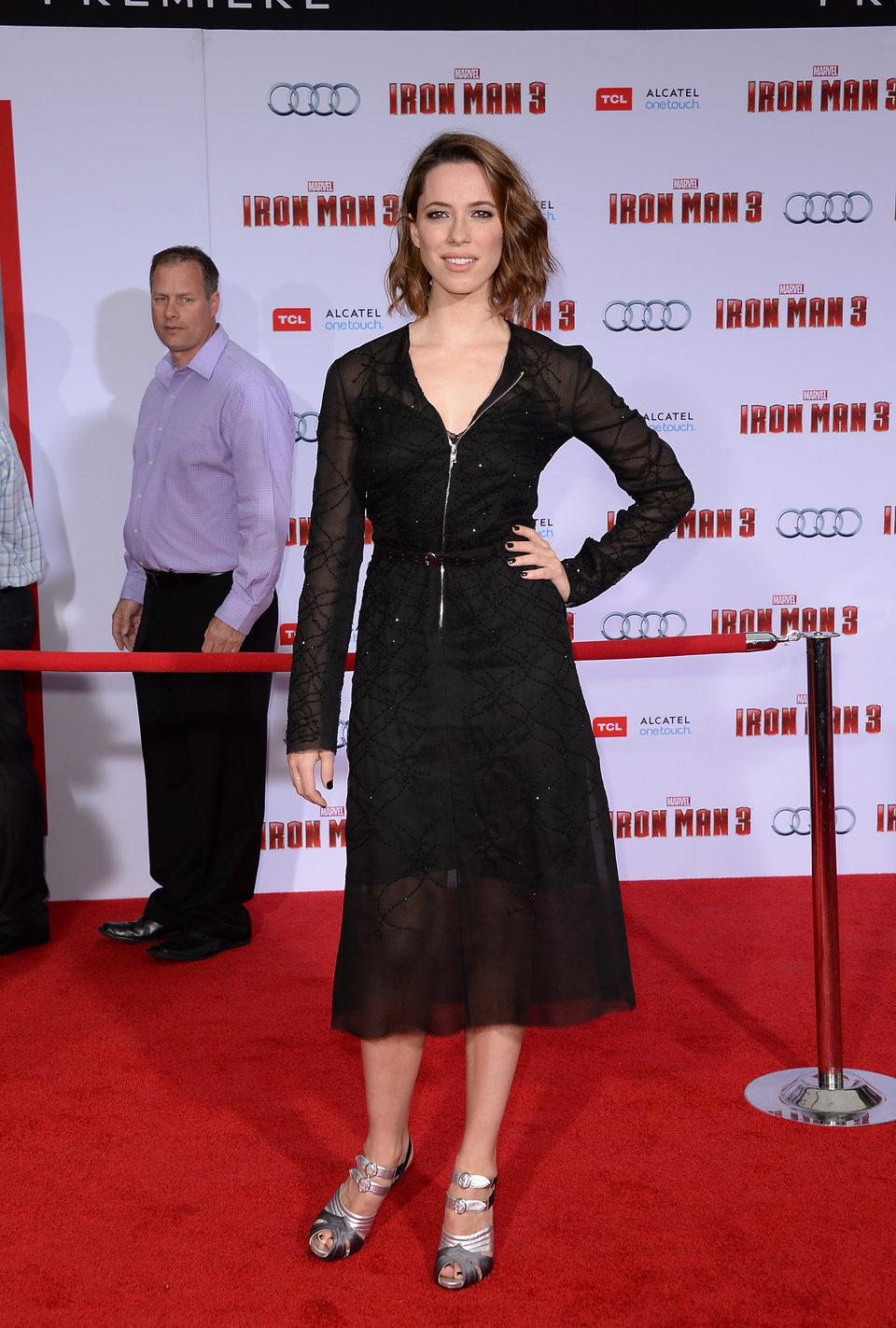 Rebecca Hall en el estreno mundial de 'Iron Man 3' en Los Ángeles