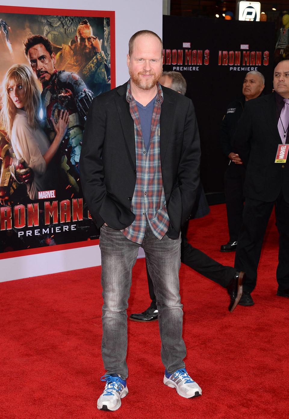 Joss Whedon en el estreno mundial de 'Iron Man 3' en Los Ángeles