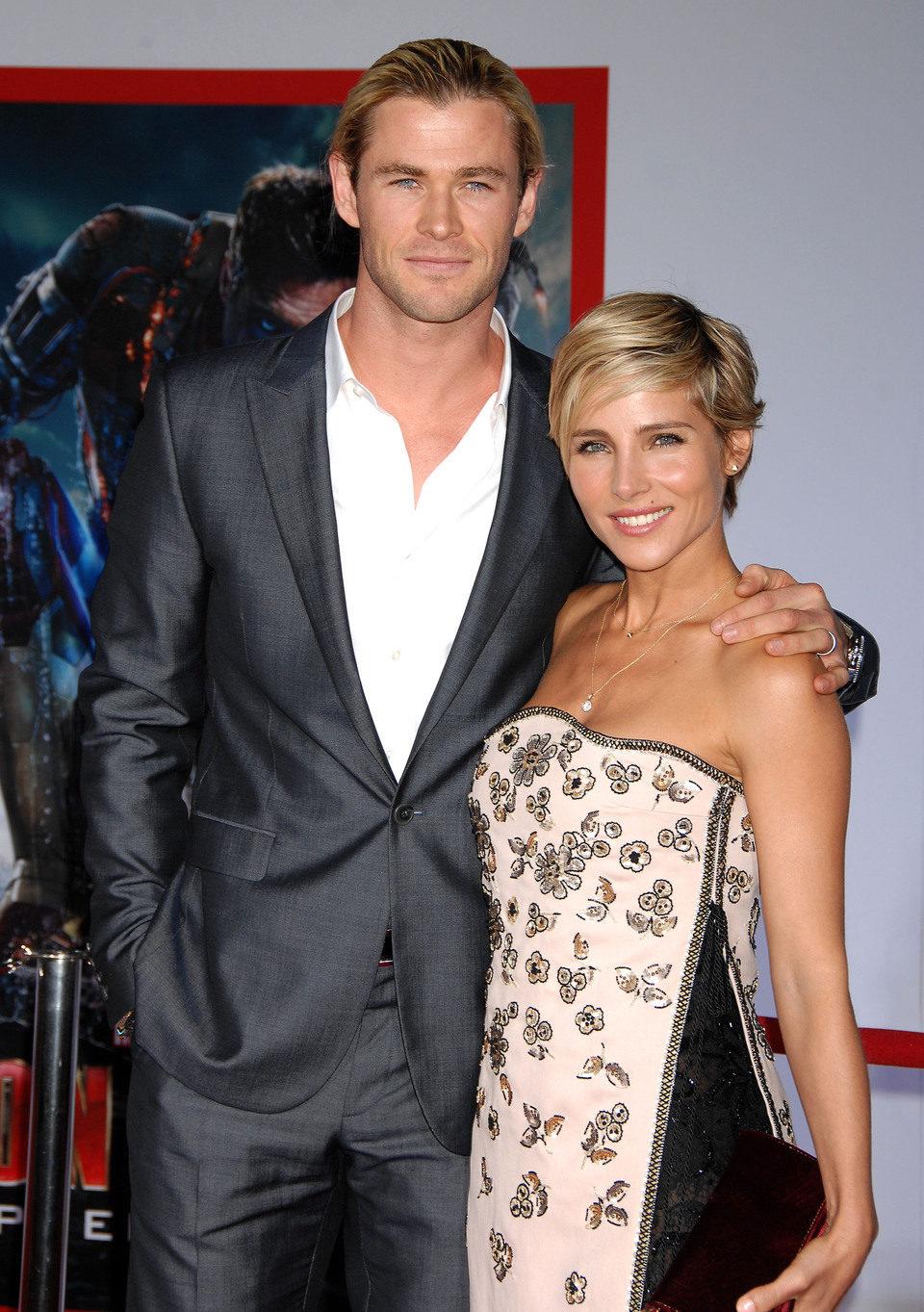 Elsa Pataky y Chris Hemsworth en el estreno de 'Iron Man 3' en Los Ángeles