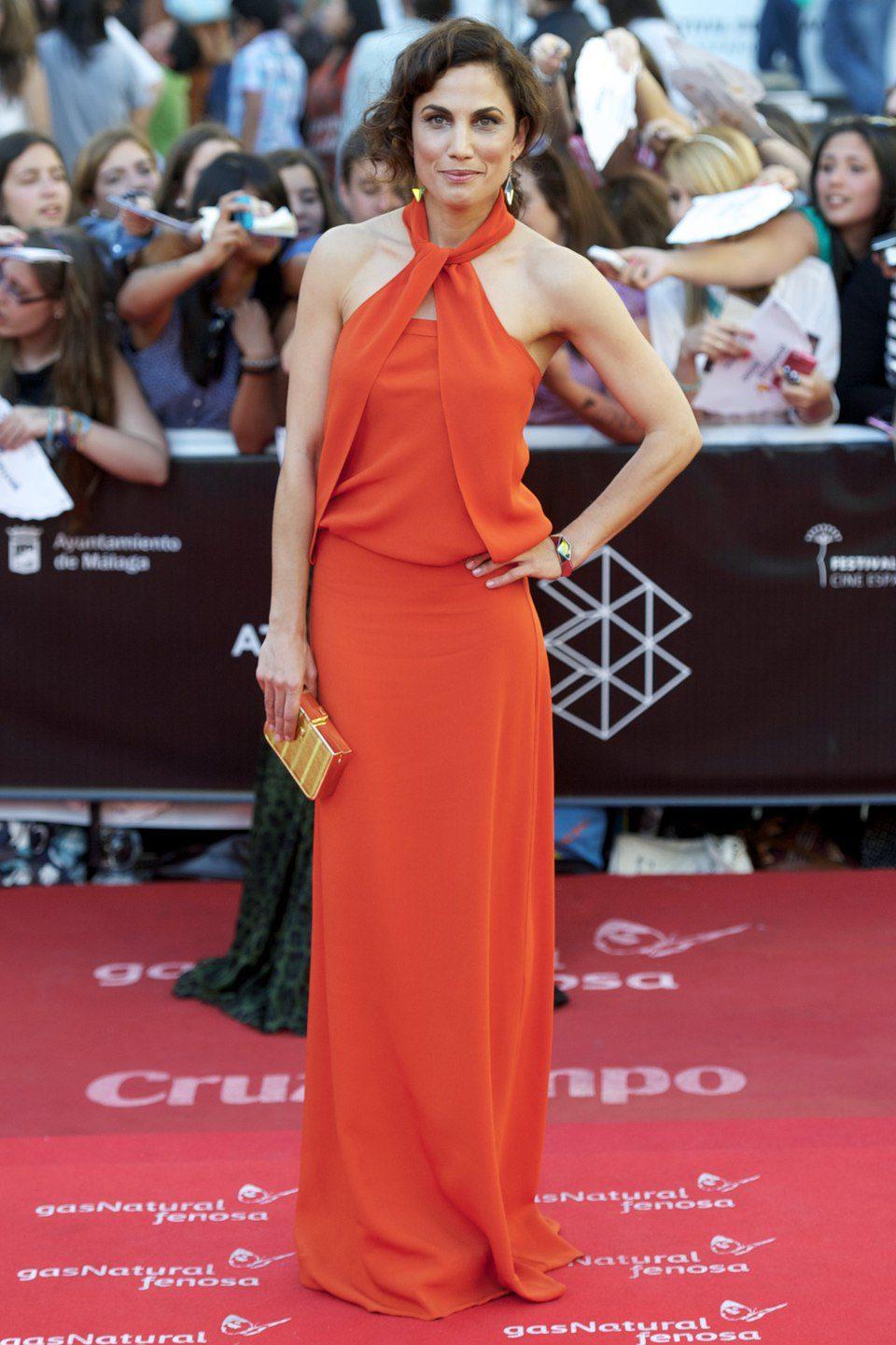 Toni Acosta en la clausura del Festival de Málaga 2013