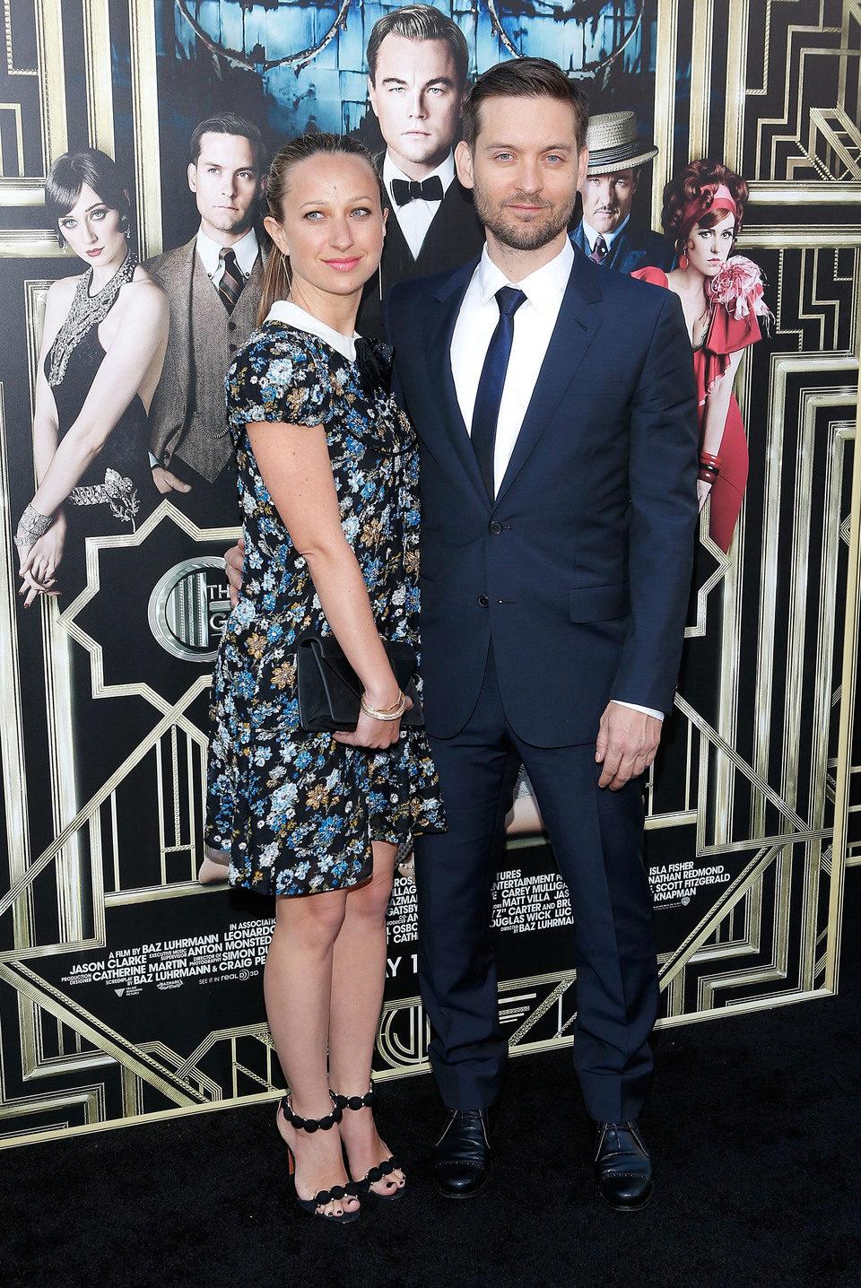 Tobey Maguire y su esposa en el estreno mundial de 'El gran Gatsby' en Nueva York