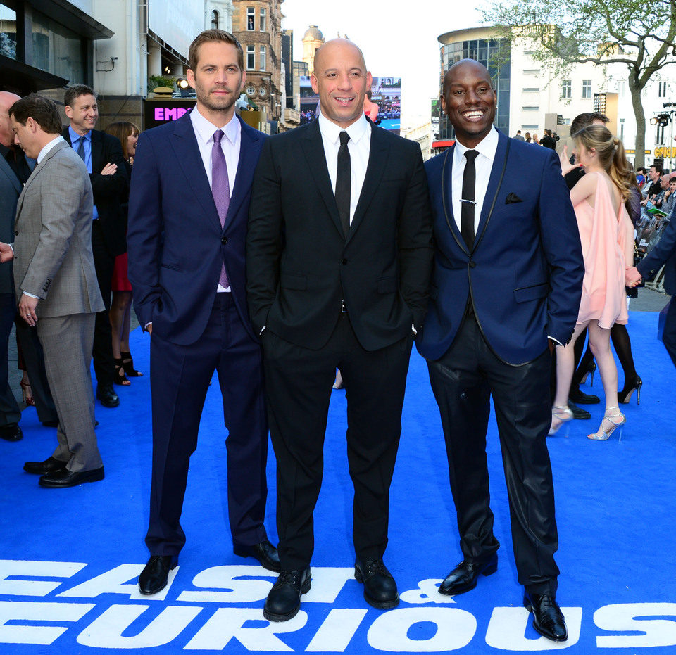 Paul Walker, Vin Diesel y Tyrese Gibson en la premiere mundial de 'Fast & Furious 6' en Londres