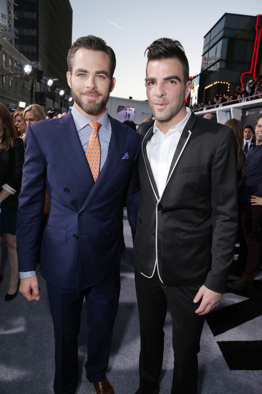 Chris Pine y Zachary Quinto en el estreno en Los Angeles de 'Star Trek: En la oscuridad'