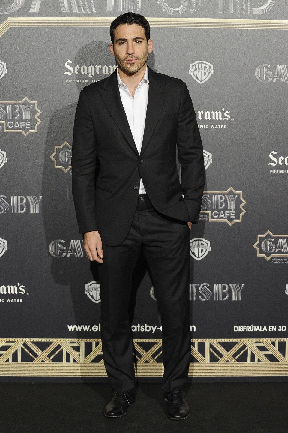 Miguel Ángel Silvestre en el estreno en Madrid de 'El gran Gatsby'