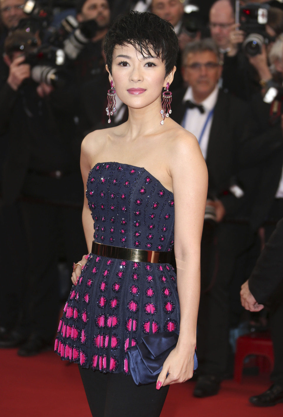 Zhang Ziyi en la fiesta inaugural del Festival de Cannes 2013