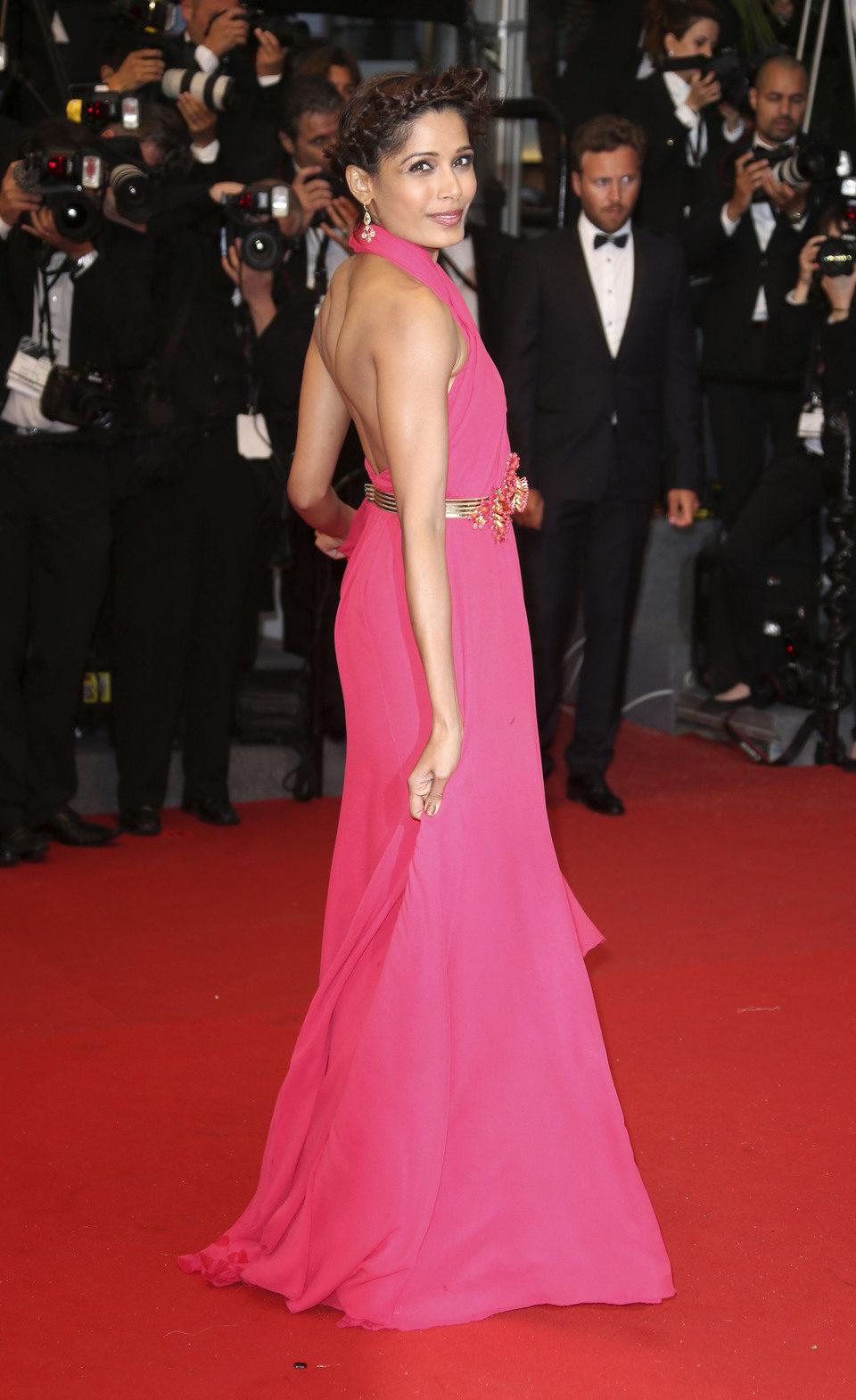 Freida Pinto en la fiesta inaugural del Festival de Cannes 2013