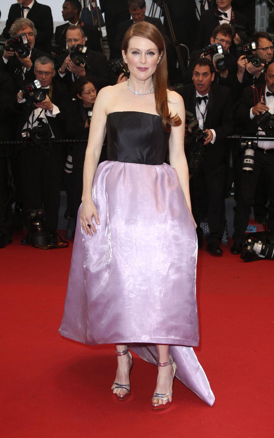 Julianne Moore en la fiesta inaugural del Festival de Cannes 2013