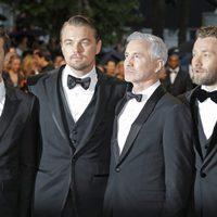 Tobey Maguire, Leonardo DiCaprio, Baz Luhrmann y Joel Edgerton en la fiesta inaugural del Festival de Cannes 2013
