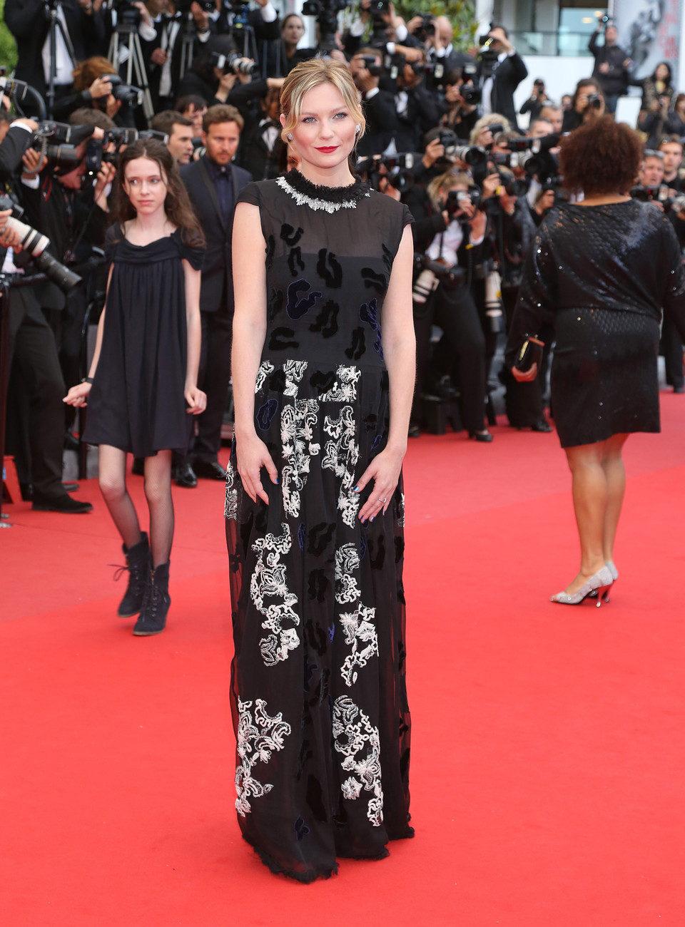 Kirsten Dunst en la premiere de 'Inside Llewyn Davis' en el Festival de Cannes 2013